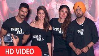 Shahid Kapoor, Kareena Kapoor, Alia Bhatt At Trailer Launch Of Udta Punjab With Star Cast