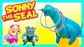Sonny the Seal Family Fun Game Fun Toys Video Toy Review Paw Patrol + Lion Guard