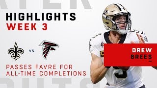 Drew Brees Overtakes Brett Favre for Most All-Time Completions!