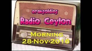 Radio Ceylon 28-11-2016~Monday Morning~01 Film Sangeet