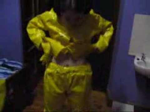 Yellow rainwear and accessories
