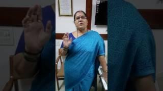 Appeal by Jha Madam to students on PVG's Vidya Bhawan Ghatkopar Ruby Jubilee celebration