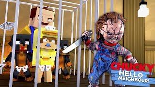 Minecraft Adventure - CHUCKY TREATENS TO KILL THE NEIGHBOUR & THE BABIES!!