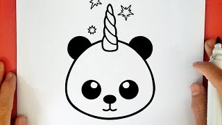 HOW TO DRAW A CUTE PANDACORN