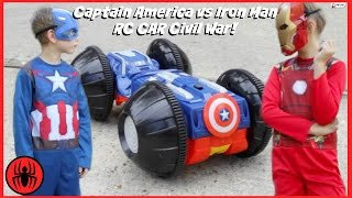 CAPTAIN AMERICA vs IRONMAN, Monkey Queen Gorilla RC CAR CIVIL WAR Real Life Avengers Rumbler edition