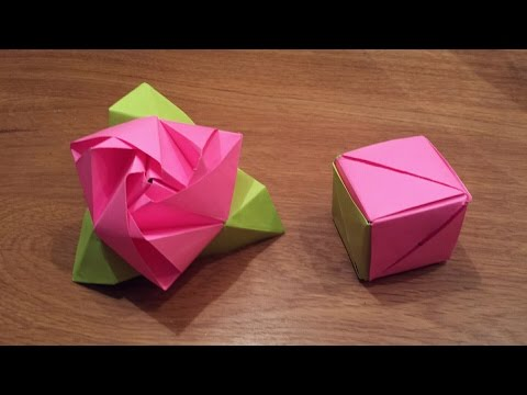 How To Make an Origami Magic Rose Cube Valerie Vann