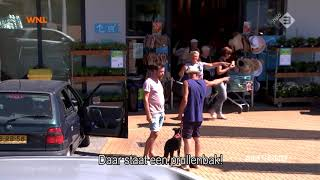 Hufterproef: Aso-vader strooit met peuken voor een supermarkt