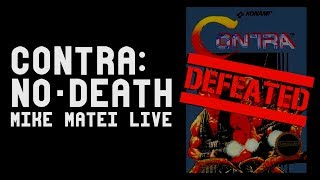 Contra No-Death Run DEFEATED! - Mike Matei Live