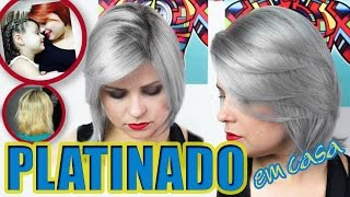 CABELO PLATINADO EM CASA | 💇🏼 Do ruivo ao GRANNY HAIR | Tutorial