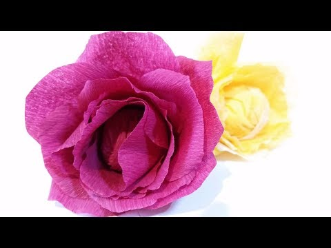Diy how to make crepe paper rose flower jk arts 377 flowers healthy paper flowers rose diy tutorial easy from crepe paper tutorial making realistic paper flowers duration 4 14 min video diy how to make crepe paper rose mightylinksfo