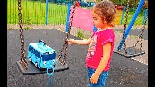Tayo Bus Having Fun at Playground
