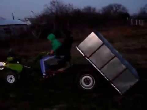 Motocultor cu remorca motosapa