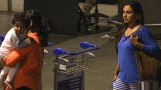 SPOTTED: Rani Mukherji with Daughter Adira the Mumbai Airport   SpotboyE