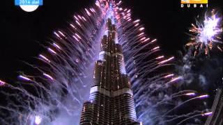 جودة عالية فيديو احتفالات ليلة راس السنة 2014 في دبي برج خليفة