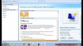 Tutorial de MS Office Access 2007 (parte 1)