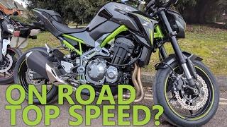 Kawasaki Z900 NEW 2017 - Acceleration, Top Speed Attempts & Near Miss