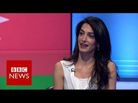 Amal Clooney: 'Why I'm defending Azerbaijani journalist (Khadija Ismayilova)' - BBC News