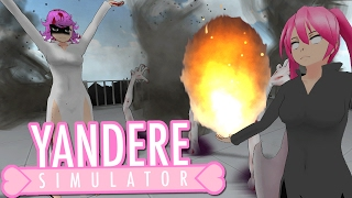 TORNADO HANDS DEMON VS FLAMING BLADE HAIR | Yandere Simulator