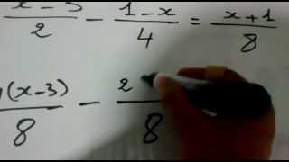 حل معادلة مكونة من كسور وتعرف المضاعف المشترك الاصغر