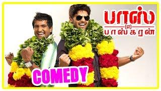 Boss Engira baskaran Comedy | Boss Engira Baskaran full Movie Comedy Scenes | Arya, Santhanam |