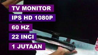 "Monitor + TV Murah 1 Jutaan Full HD1080 IPS LED 22"" LG 22MT48AF Unbox & Tes"