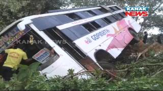 One Dead, 17 Injured As Picnic Bus Collided With Truck In Nayagarh
