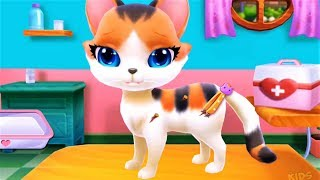 Play With Cute Kitty Pet Care Games : Dress Up Feeding & Vet Tools - Gameplay Android Video
