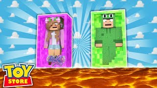FLOOR IS LAVA IN THE TOYSTORE! Minecraft Little Kelly