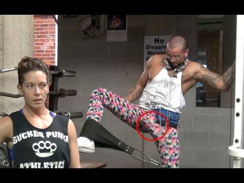 Nerd Personal Trainer Gym Prank