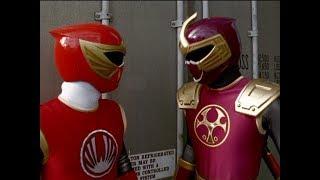 Power Rangers Ninja Storm - Red and Crimson Ranger vs Bopp-A-Roo | Episode 14