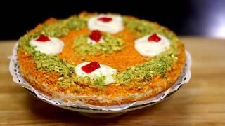 كنافة بالقشطة/ طريقة عمل الكنافة بالقشطة بدون طهي على البارد Kunafa with Cream