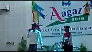 performance by Humraj @DAV college Hoshiarpur (channa ve)