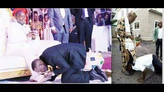 Church Members Kiss Prophet Mbonye's Feet During Service; Biafran Member Honors Nnamdi Kanu