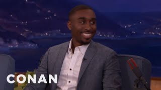 Demetrius Shipp Jr. Was Installing Satellite Dishes A Few Years Ago  - CONAN on TBS