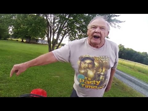Angry Old Man Vs Dirt Biker!!