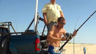 Matagorda Land Based Shark Fishing
