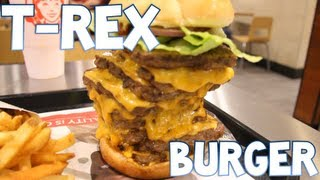 T-Rex Burger From Wendy's Devoured (3,360 Calories) | Furious Pete
