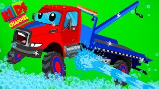 Tow Trucks Car Wash By Kids Channel Cartoon Videos For Childrens