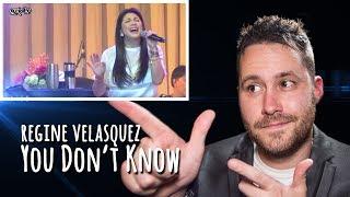 Regine Velasquez - You Don't Know - Live! Mini Concert | REACTION