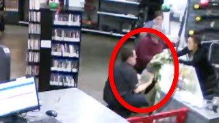 Store Owner Catches Baby as He Falls Off Counter