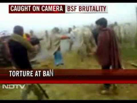 Border Security Force (BSF) of India torturing a Bangladeshi