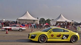Supercars Drag Race in Bangalore | Vroom 2016 | INDIA