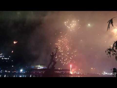 Pesta Kembang Api menyambut Tahun Baru 2017 di Tana Toraja