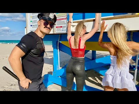 Fake Policeman Searched Fit Girls in Miami Beach