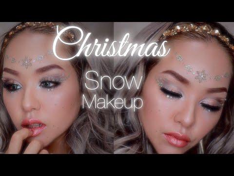 -Christmas- ❄️Snow Makeup Tutorial ❄️ snow queen  makeup   M.A.C