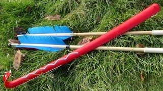 $1 Atlatl Dart Thrower - How to Make a Quick Atlatl From a $1 Shoe Horn