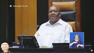 FUNNY. Deputy Speaker Tsenoli Entertains Parliament.