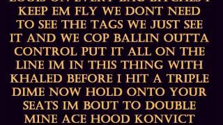 Overtime - Ace Hood, Akon &  T-Pain With Lyrics HQ