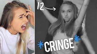 REACTING TO MY OLD MUSIC VIDEOS