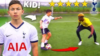 I Challenged a KID Footballer To a PRO Football Competition (NEXT HEUNG MIN SON 손흥민?)